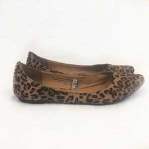 MOSSIMO studded leopard print flats Size 9
